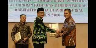 Untuk Ketiga Kalinya, Kabupaten Inhil Kembali Raih Opini WTP dari BPK Perwakilan Riau