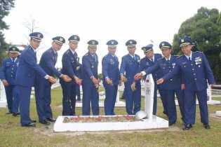 Peringati Hari TNI AU ke-71, Lanud Rsn Lakukan Ziarah