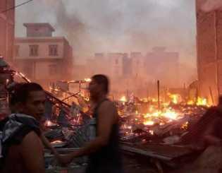 Pusat Perbelanjaan Rata Dilalap Api di Inhil