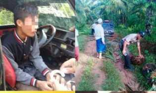 Panen Buah Sawit Pria di Rohil Ditangkap Polisi