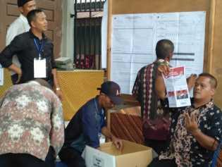 TPS 34 Kayu Jati Tembilahan Hulu Komit Selenggarakan Pemilu Bersih