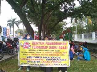 Ratusan Mahasiswa Gelar Aksi Demo di DPRD Riau, Ini Tuntutannya