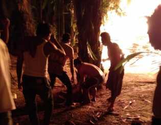 Kebakaran di Inhil Satu Korban Luka Bakar