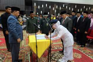 136 Pejabat Eselon III dan IV Pemkab Inhil Dilantik