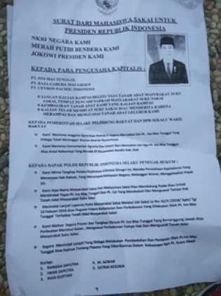 Gelar Demo di DPRD Riau, Seorang Orator Sebut Sejumlah Perusahaan sebagai ''Penjajah''