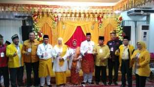 Ribuan Massa Pendukung Antar Andi Rachman & Suyatno Daftar ke KPU Riau