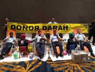 Kembali Prajurit TNI AU Lanud Rsn Donorkan Darahnya