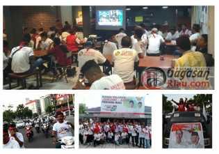 Relawan Kerja #01 Riau Nobar Debat Capres Putaran Terakhir