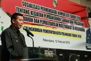 Pemko Gelar Sosialisasikan Permendagri Nomor 130 Tahun 2018