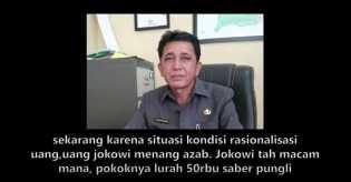Rekaman Lukman Hakim Lurah Sungai Sibam Payung Sekaki Ini Memaki Jokowi Karena Saber Pungli