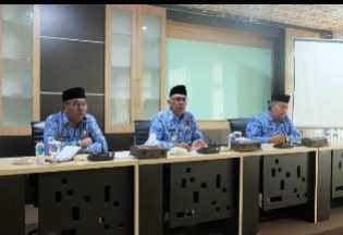 Perdana, Pj Bupati Inhil Pimpin Rapat Koordinasi Bersama Jajaran