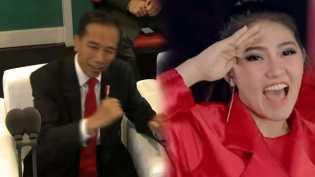 Jokowi Bergoyang Ikuti Lantunan Lagu Via Valen