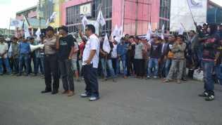 Diduga Dimonopoli Perusahaan, Aksi Massa SPSI Tuntut BC Tembilahan