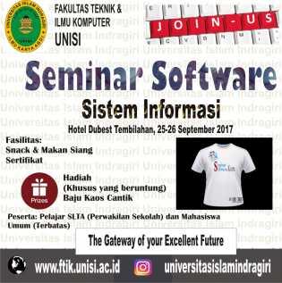 Publikasikan Karya Ilmiah, FTIK Unisi Gelar Seminar Software Sistem Informasi