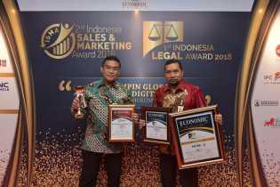 Bank Riau Kepri Raih Peringkat Pertama Pada Ajang Indonesia Sales Marketing Award & Indonesia Legal Award 2018.
