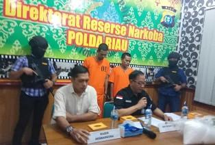Polisi Riau Sita Sabu-sabu Senilai Rp6 M, Dua Tersangka Turut Diamankan