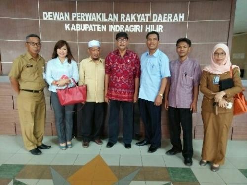 Wakil Ketua DPRD Indramayu Datangi Kantor DPRD Inhil