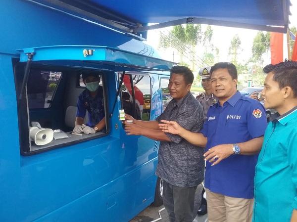 Pastikan Angkutan Mudik Aman, Supir Bus AKAP Dan Travel di Kuansing Dicek Urine