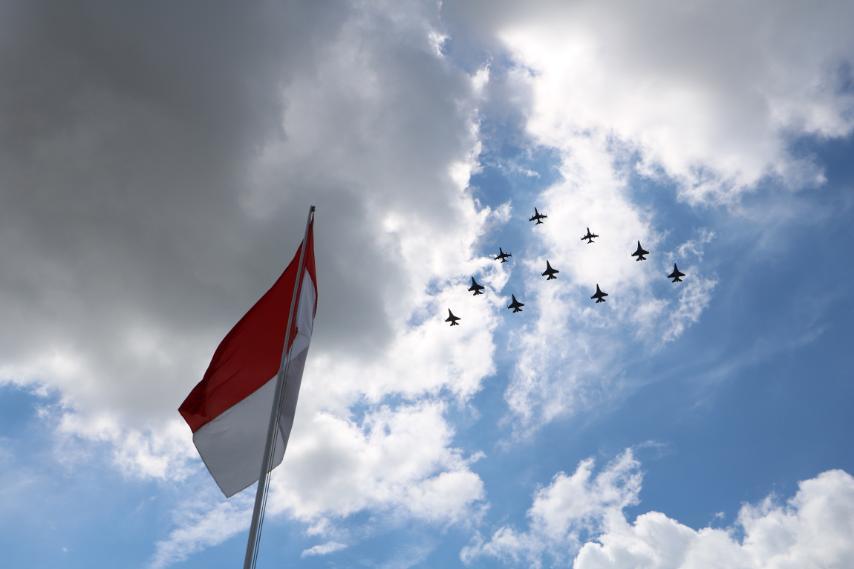 Suara Desingan Pesawat Tempur TNI AU Kejutkan Masyarakat Siak