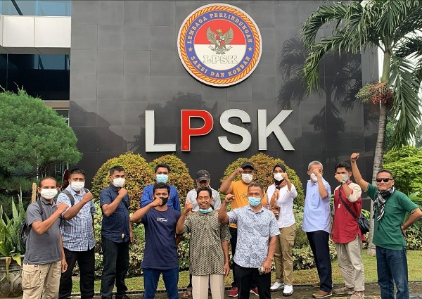 LPSK Berikan Perlindungan Kepada 997 Petani Asal Kampar Akibat Dikriminalisasi PTPN V dan Polres Kampar