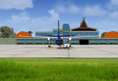 Demi Menyelamatkan Aset, Jalan Menuju Indragiri Airport Kembali Dipasang Portal