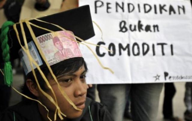 Pagi Ini Repdem Gelar Unjuk Rasa Tuntut Perbaikan Pendidikan