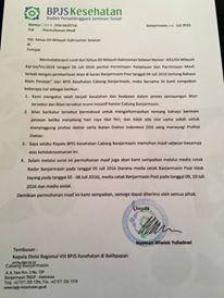 Terkait Iklan Pelecehan Profesi Dokter, BPJS Banjarmasin Mengaku Lalai Dan Minta Maaf