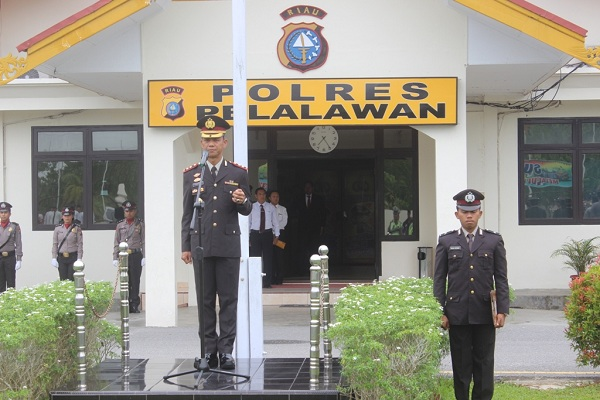 Polres Pelalawan Gelar Upacara Peringatan Hari Kesaktian Pancasila