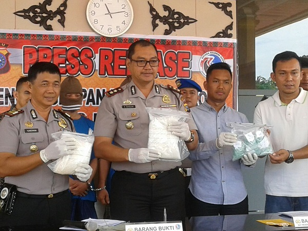 Polres Bengkalis Tangkap 2 Kg Sabu & Hampir 2000 Pil Ekstasi