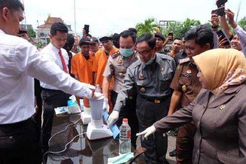 248,47 Gram Sabu, 502 Butir Pil Ekstasi Dimusnahkan Polres Inhil