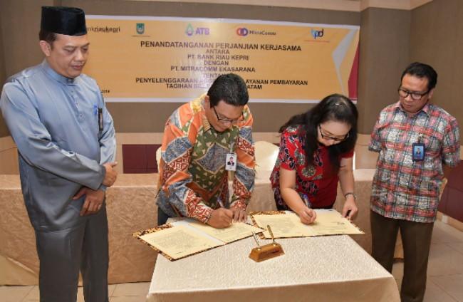 Bank Riau Kepri Siap Layani Pembayaran Tagihan ATB di Kota Batam