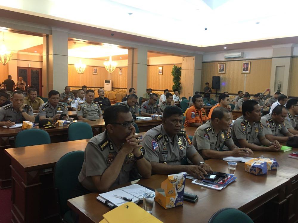 Sambut Tahun Baru 2018, Polda Riau Gelar Rakor Lintas Sektor