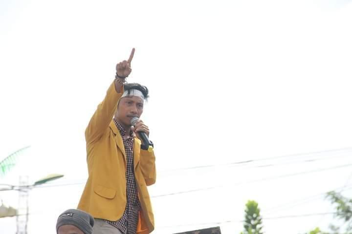 Koordinator BEM SRI Serukan Aksi Jilid 2 Bela Kamarek di Kejati Pekanbaru