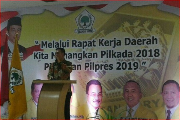 Pidato Suparman Saat Rakerda Golkar Riau di Rohul Mengerikan, Ini Isinya