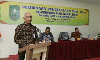 Rudiyanto Hadiri Pembukaan Pelatihan Pengelolaan BUMDes se-Riau