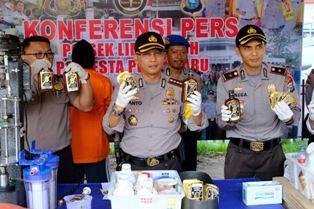Mapolresta Pekanbaru Ungkap Kasus ''Home Industry'' Miras Oplosan