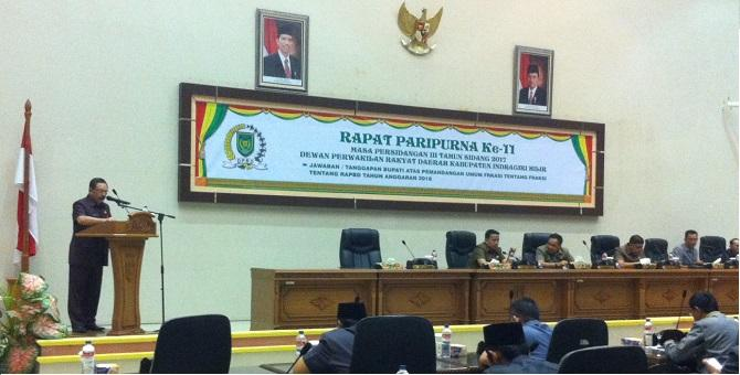 Pandangan Fraksi-fraksi DPRD Inhil Terhadap RAPBD 2018
