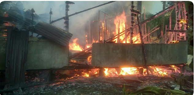 Ada Apa Dengan Inhil, Kejadian Kebakaran Terjadi Lagi, Warga Kateman Rumahnya Jadi Abu