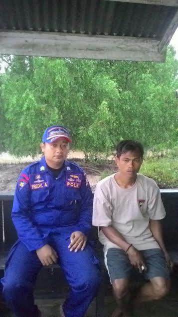 KM Muatan 13 Tiang Listrik Tenggelam Bersama ABK di Perairan Kampung Baru Kecamatan Gas