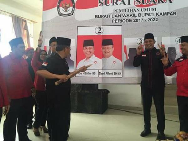 Momentum Rakercabsus DPC PDIP Kampar Jadi Ajang Penguatan Pemenangan Zulher - Dasril Affandi