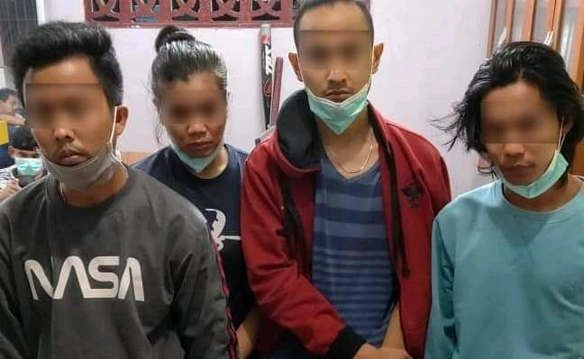 Polsek Mandau Ringkus 5 'Budak' Narkotika Jenis Sabu
