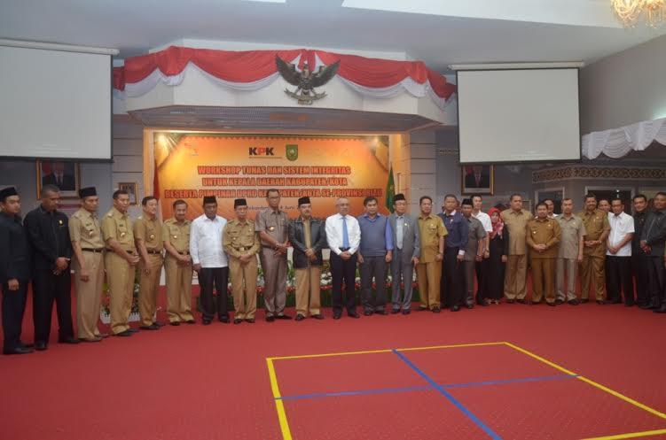 Bupati Amril Ikuti Workshop Integritas KPK