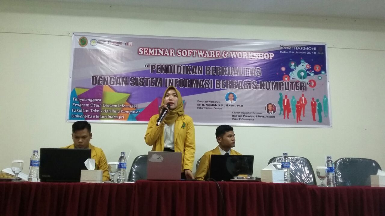 Prodi SI FTIK Sukses Gelar Seminar Software dan Workshop E-Learning
