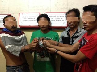 Gagalkan Transaksi Sabu, Polisi di Inhil Juga Amankan 4 Pria