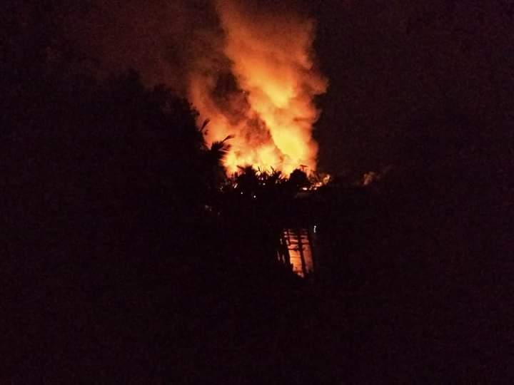 Anak Main Korek Api, Rumah PNS di Rohil Ludes Terbakar