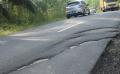 Baru Digunakan, Jalan Langgam-Simpang Tengkorak Rusak