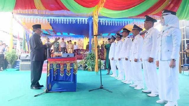 Pelantikan 6 Kades Gaung,Wardan Berpesan Untuk Fokus Jalankan Amanah Pembangunan