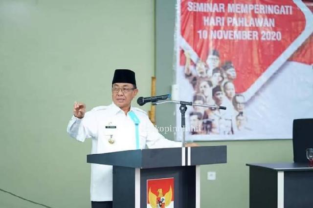 Seminar Hari Pahlawan Tahun 2020 Dihadiri Bupati Wardan