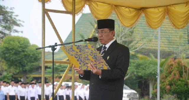 Bupati Wardan Pimpin Upacara Peringatan Hari Kesaktian Pancasila Tahun 2019