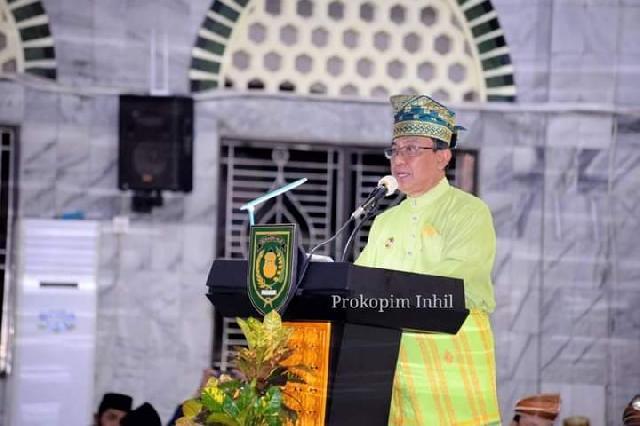 Bupati Wardan Buka MTQ Ke-50 Kabupaten Inhil Secara Sederhana